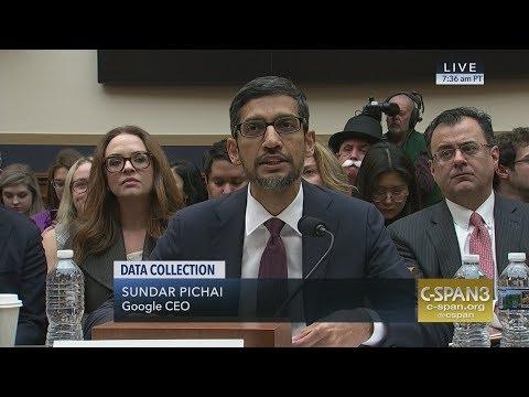 LIVE: Google CEO Sundar Pichai testifies on Data Collection (C-SPAN)