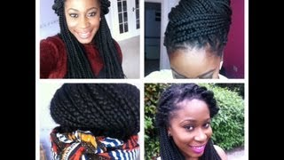 How i style my long box braids