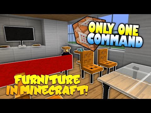 Furniture In Minecraft | NO MODS! | Only One Command Block (One Command Creation)