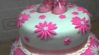 Shoes Baptism Cake