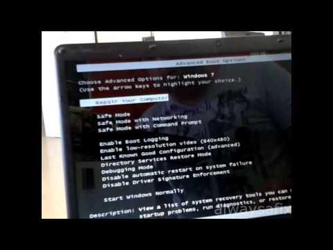 Laptop white screen trojan virus infection easy fix