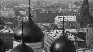 Большая панорама Москвы с колокольни Ивана Великого, 1908 год. Редкие кадры кинохроники
