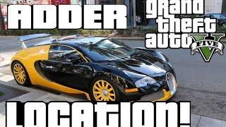 GTA V ADDER LOCATION!! (BUGATTI) [STORY MODE]