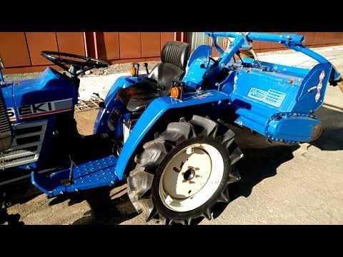 Трактор Iseki TU1600, обзор, тест, проверка, test japanese tractor