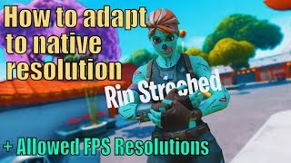 Stretched Resolution BANNED! How To Adapt + Allowed FPS Increasing Resolutions Fortnite