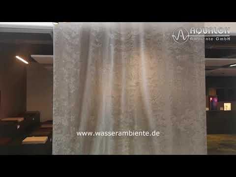 "Wasserwand ""Aqualon Skyfall III"" aus Edelstahl Ringgewebe"
