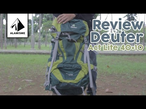 Видео о Рюкзак Deuter Aircontact 40 + 10 SL цвет 3399 steel-midnight 3320019 3399