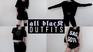 ALL BLACK LOOKBOOK | Nu Goth Outfit Ideas