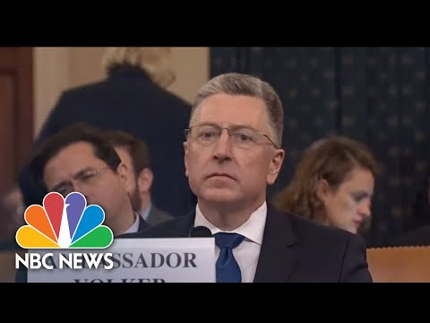 Adam Schiff Presses Volker On White House Meeting: 'Why Didn't You Tell Us This?' | NBC News