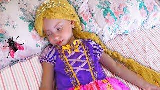 Alice Pretend Princess Rapunzel | Funny Stories by kids smile tv