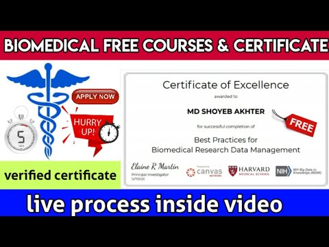 Free Biomedical Courses with free certificate | Medical Courses ...