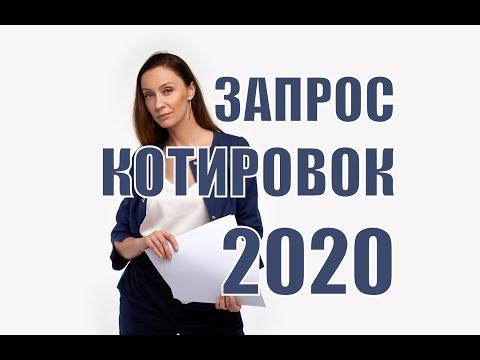 Запрос котировок в 2020 году