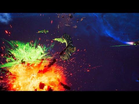 Imperial Navy vs Necrons! - 1v1 Multiplayer Gameplay, Battlefleet Gothic Armada 2
