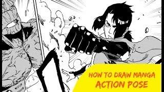 How to Draw Manga Action Pose