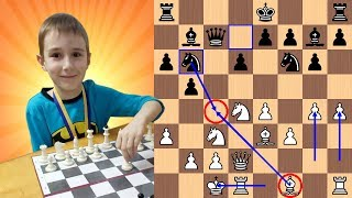 7-Year-Old Chess Prodigy gives