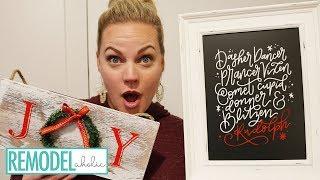 Easiest Christmas Chalkboard Signs Tutorial
