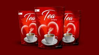 Product Packaging Design| Tea Packaging | Tutorial In Photoshop