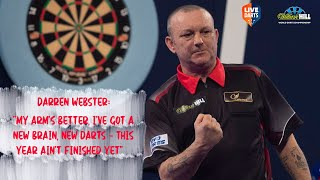 "Darren Webster: ""My arm's better, I've got a new brain, new darts – this year ain't finished yet"""