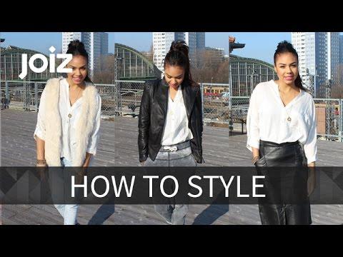 Ein Teil, 3 Looks - weiße Bluse - How to style #1