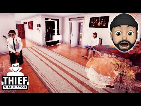 UNLOCKING THE CLOAKING DEVICE!! I'M INVISIBLE!!   Thief Simulator #28