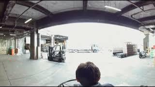 築地市場ターレの360度動画