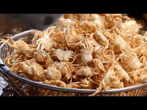 Fried Mini Crab, Shrimp, Squid