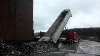 How to unload an end dump