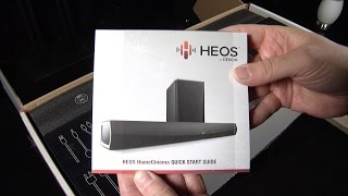 First look unboxing of the Denon HEOS Soundbar and Subwoofer