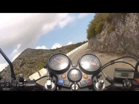 Honda CBX 1000 Sound!!! Nice trip in Spain from Pego to Vall De Ebo
