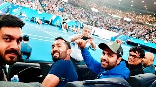 Indian cricketers turn up to cheer for Rafael Nadal at the Australian Open