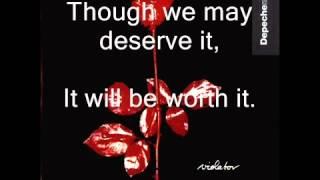 Depeche Mode - Halo + Lyrics - Violator 1990