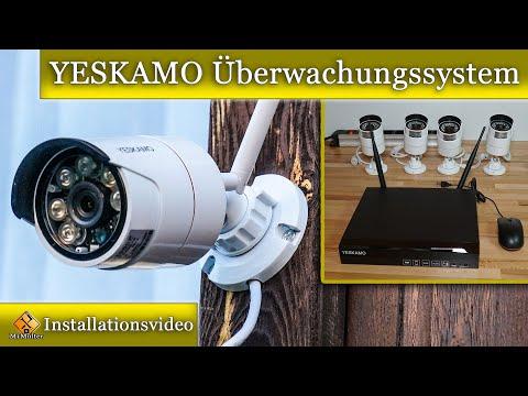 YESKAMO Überwachungssystem Komplettanlage / Einbau und Installationsvideo