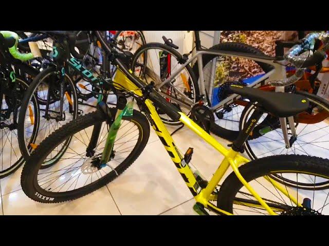 Видео Велосипед Scott Scale 980 2020 yellow/black