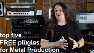 The top five FREE PLUGINS for Metal Production   SpectreSoundStudios REVIEW