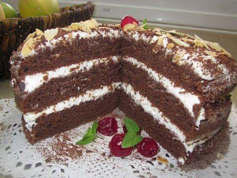 Торт Ноченька ( на кефире)