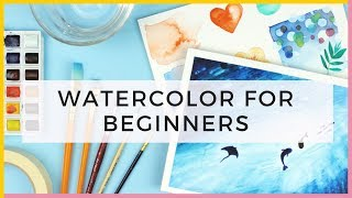 Watercolor For Beginners | Supplies & Watercolor Techniques for Beginners & Painting the Ocean