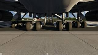 Boeing 747-400 Gear Cam View Take Off Zurich [Aerofly 2]