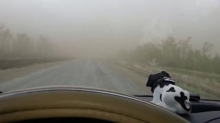 Трасса Рудный - Лисаковск (07.05.2017) - Ветер