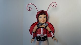 How to Make a Doll's Ladybug Costume Pt. 1
