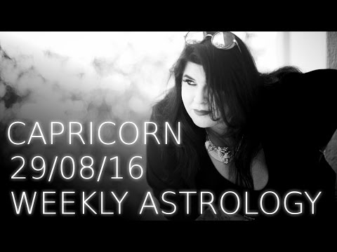 Capricorn weekly astrology 29th August 2016