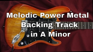 Melodic Power Metal Backing Track In A Minor