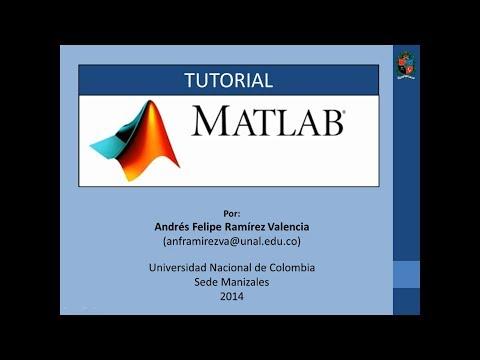 Tutorial 1 de MATLAB en español – Introducción 1/2