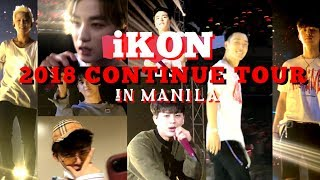 iKON NOTICED US!!! 2018 CONTINUE TOUR IN MANILA with SOUNDCHECK and SEND OFF!