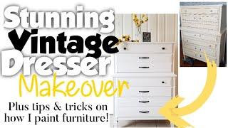 Vintage Dresser Makeover, Plus Tips & Tricks On How I Paint Furniture | Steps To Painting Furniture