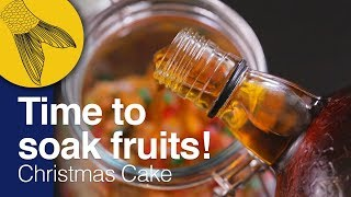 Christmas Fruit Cake Recipe–PART 1: Cake Mixing/Fruit Soaking | Kolkata Christmas Plum Cake at Home