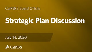 Strategic Plan Discussion | July 14, 2020