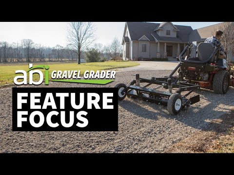 ABI Gravel Grader – Driveway Grader for Lawn Tractor and Zero-turn Mower