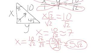 Unit 2 - Special Right Triangles Extra Practice - GIC