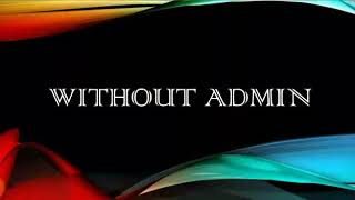 WithOut Admin Презентация..