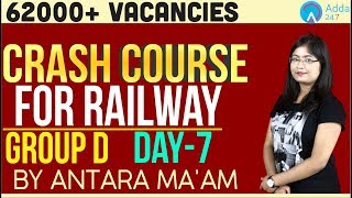 .62000+ Vacancies | RRB Group D Crash Course | Day 7/10 | Antara Ma'am | 1 P.M. |
